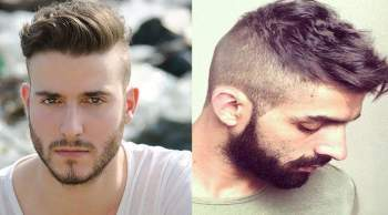 Cool Side Swept Undercut Hairstyle with Beard - Undercut Hairstyle