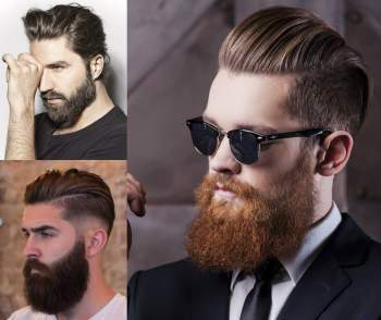 High and Tight Haircut with Cool Beard Style - Best Hairstyles for Men