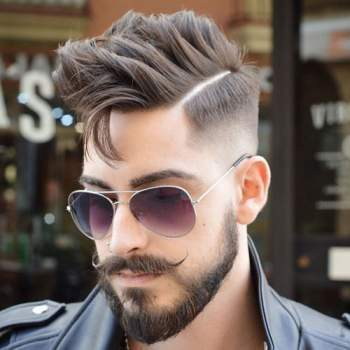 50 Trendy Undercut with Beard Styles,