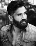 Beard with short mustache