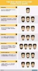 Different kinds of beard styles