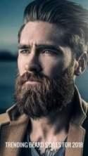 Short beard with mustache
