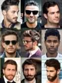 Trendy hair and beard styles